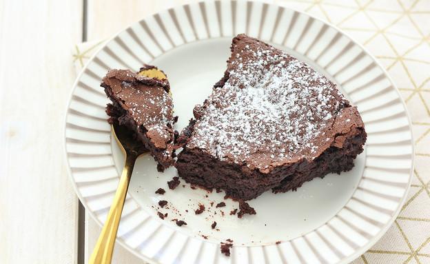עוגת שוקולד קטיפתית ומהירה (צילום: ענבל לביא)