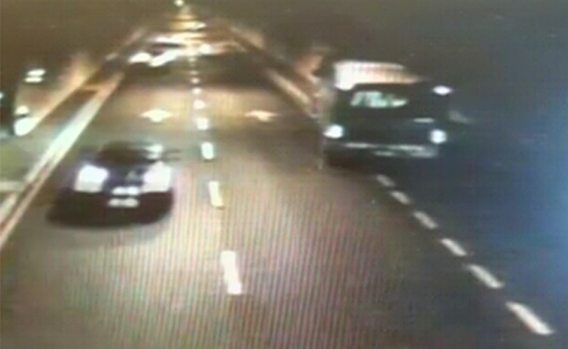 תאונה במנהרות הכרמל (צילום: חדשות 2)
