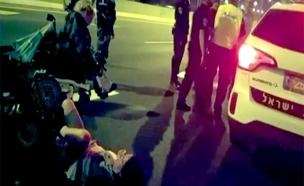 צפו בעימותים מההפגנה אמש (צילום: מרים קרן)