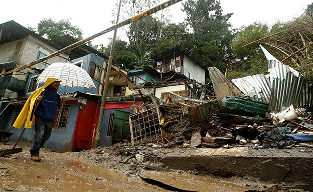 נזק בקוסטה ריקה (צילום: רויטרס)