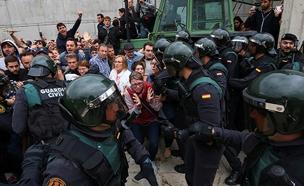 האלימות במשאל העם, יום ראשון (צילום: רויטרס)