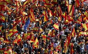 הפגנות ענק במדריד (צילום: חדשות 2)
