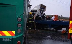 הרוג ופצוע אנוש בתאונה בבקעה (צילום: רז כפיר/TPS)