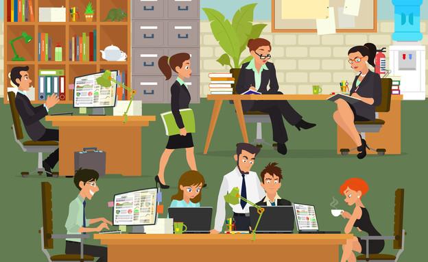 עבודה באופן ספייס (איור: kateafter | Shutterstock.com )