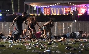 זירת הירי בלאס וגאס ב-2017 (צילום: sky news, סוכנויות הידיעות)