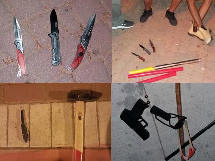 כלי התקיפה שנתפסו באשקלון