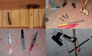 כלי התקיפה שנתפסו באשקלון (צילום: דוברות המשטרה)