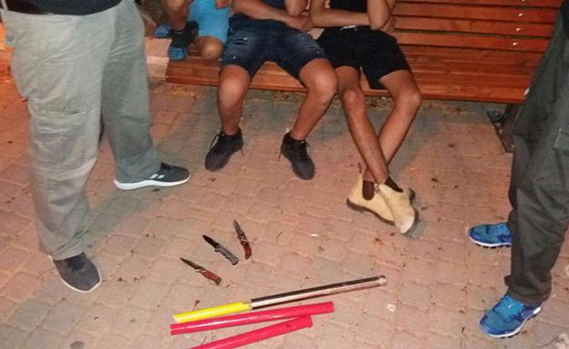 חמישה קטינים נעצרו (צילום: דוברות המשטרה)