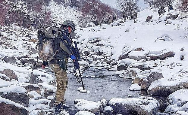כוחות קומנדו טורקיים בצפון סוריה (צילום: מתוך טוויטר)