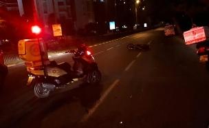 """תאונת אופנוע קטלנית, ארכיון (צילום: תיעוד מבצעי מד""""א)"""