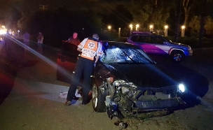 תאונת אופנוע קטלנית בעכו (צילום: חדשות 2)