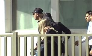 פרץ בכניסה לכלא, הבוקר (צילום: חדשות 2)