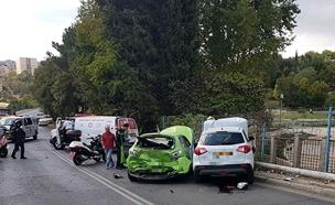 זירת התאונה (צילום: דוברות מדא)
