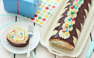 רולדת קרם שוקולד לבן ועדשים (צילום: ענבל לביא, אוכל טוב)