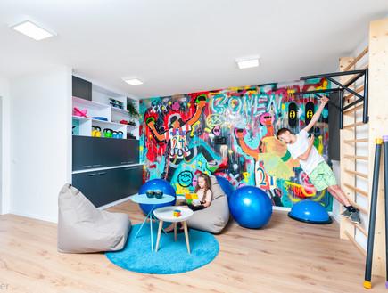 חדר משחקים בעיצוב בשמת אלמגור ואורלי גונן שטיינגרט (צילום: אסף הבר)