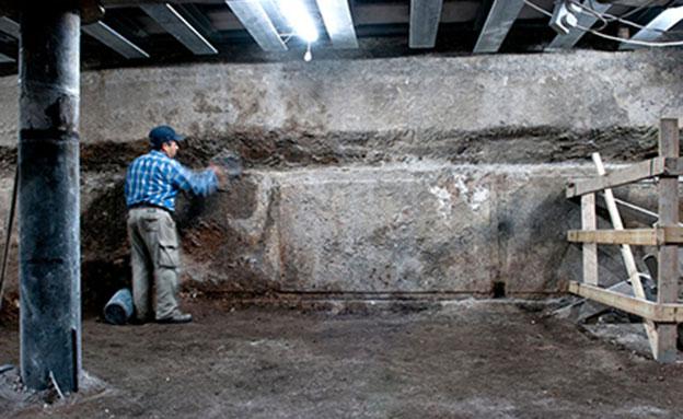המבנה ההיסטורי שנחשף (צילום: יניב ברמן, באדיבות רשות העתיקות)