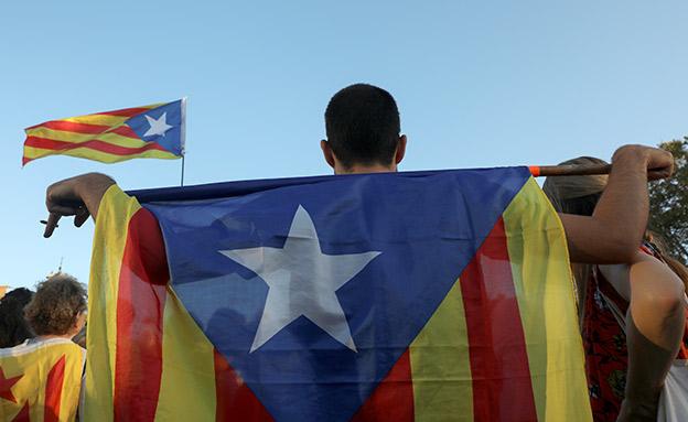 תומך בעצמאות קטלוניה, ארכיון (צילום: רויטרס)