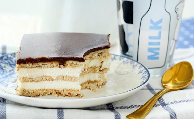 פרוסת עוגת ביסקוויטים קלאסית (צילום: ענבל לביא, אוכל טוב)
