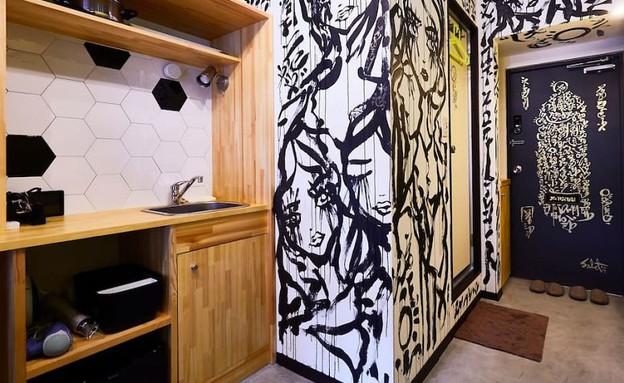ציור קיר, דירת אייר בי אנד בי (צילום: יחסי ציבור)