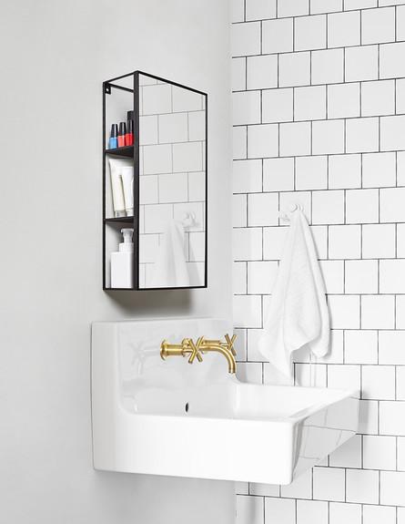 ארונות אמבטיה - מתאים במיוחד לחדרי רחצה קטנים (צילום: יחסי ציבור)