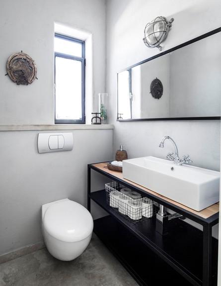 ארונות אמבטיה ארון במראה תעשייתי של וישס גלרי (צילום: איתי בנית)