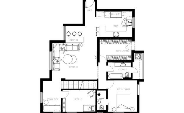 בשיפוץ_ תכנית הדירה_ באדיבות יעל פרי3 (צילום: איתי בנית)