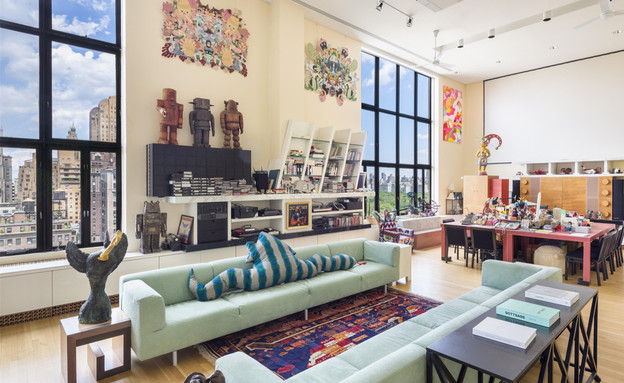 בתים למכירה 06_ פנטהאוז אמנותי בניו יורק (צילום: יחסי ציבור)