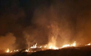 השריפה עדיין משתוללת (צילום: דוברות כיבוי והצלה)