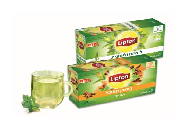 תה ירוק קינמון מתובל, ליפטון (צילום: יחסי ציבור,  יחסי ציבור )