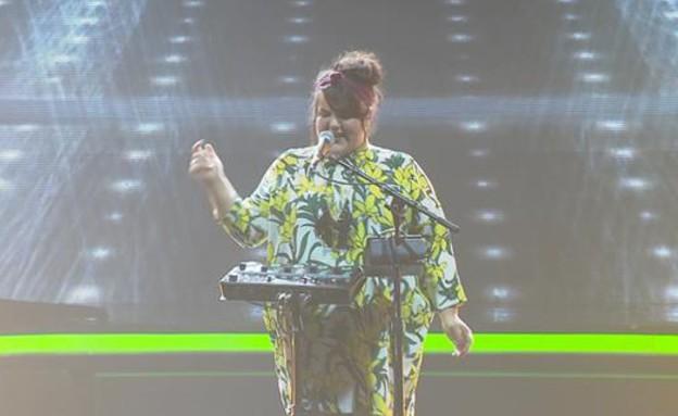 """נטע ברזילי – """"Rude Boy"""" (צילום: מתוך """"הכוכב הבא לאירוויזיון 2019"""", שידורי קשת)"""