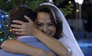 """טקס החופה של אחווה סיטבון וטל כוכבא (צילום: מתוך """"חתונה ממבט ראשון"""", שידורי קשת)"""