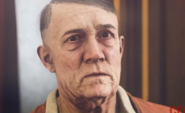 היטלר ב-Wolfenstein 2 (צילום: יחסי ציבור, צילום מסך)