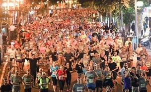 """מרוץ הלילה בת""""א, ארכיון (צילום: רונן טופלברג)"""