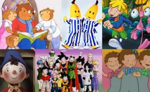 קולאז' סדרות ילדים (עיצוב: יחצ, tvbee)
