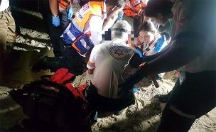 """מותו של הנער נקבע בביה""""ח (צילום: תיעוד מבצעי מד""""א)"""