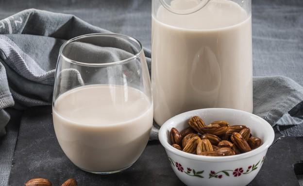 חלב שקדים ביתי (צילום: אפיק גבאי, מתכון לחיסכון)