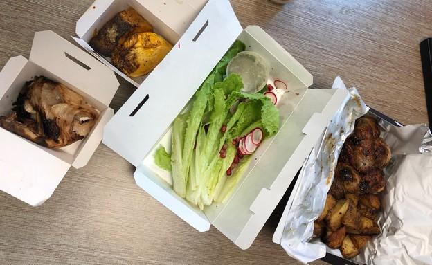 קוקוריקו רן שמואלי משלוח עוף ברוטיסרי (צילום: ריטה גולדשטיין, אוכל טוב)