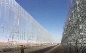 צפו בעבודות ההקמה של המכשול (צילום: מנהלת גבולות ותפר במשרד הביטחון)