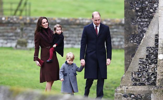 הנסיך וויליאם קייט מידלטון וילדיהם בחג המולד - Andrew Matthews (צילום: GettyImages)