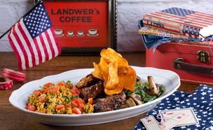 ארוחת בוקר טבעונית אמריקאית (צילום: בועז לביא, יחסי ציבור)