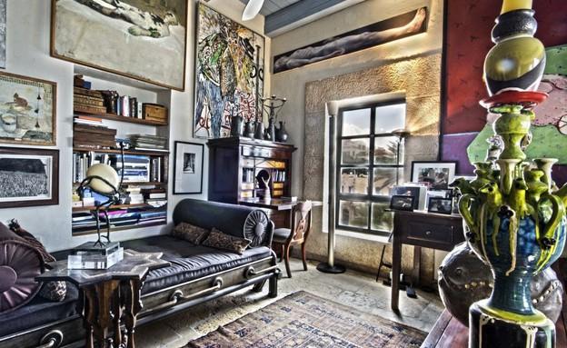 בית אילנה גור, סלון (צילום: שוקי קוק)
