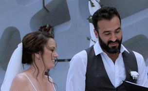 """החופה: רלי ואלעד נפגשים לראשונה (צילום: מתוך """"חתונה ממבט ראשון"""", שידורי קשת)"""