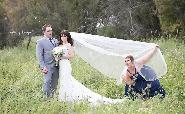 תמונת חתונה פוטובומב (צילום:  Photo by Flash90)