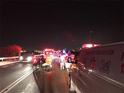 זירת התאונה בכביש 42