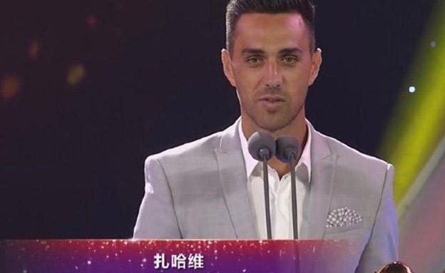 שחקן העונה בליגה הסינית. ערן זהבי (צילום: מתוך הטלוויזיה הסינית)
