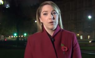 כתבת חדשות BBC (צילום: צילום מסך)
