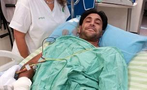 אליניב ברדה בבית החולים (צילום: חדשות 2)