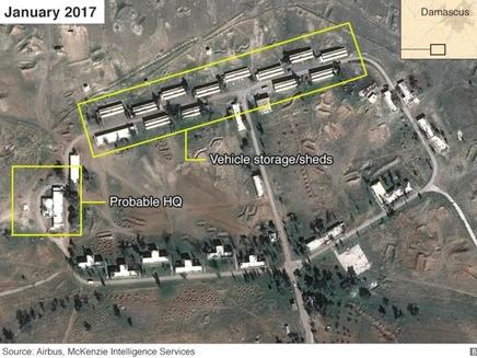 הבסיס האירני בסוריה, צילום לווין