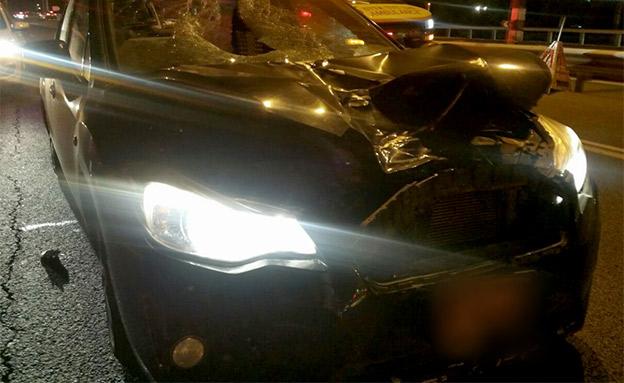 זירת התאונה, הערב (צילום: דוברות איחוד והצלה)