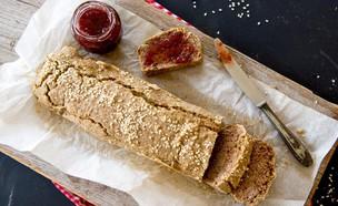 לחם כוסמת לא קלויה  (צילום: ענבל כבירי, אוכל טוב)
